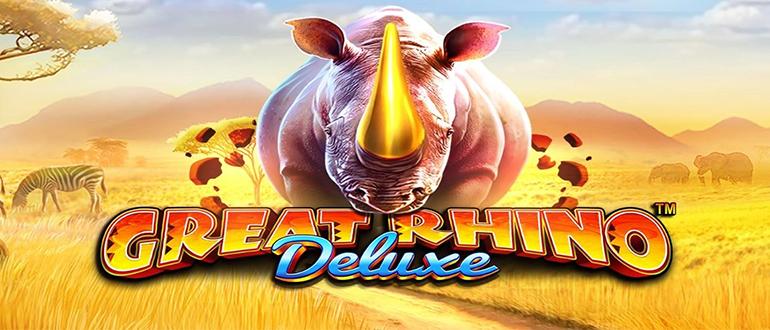 Обзор игрового автомата Great Rino Deluxe (Гриат Рино Делюкс): Pragmatic Play